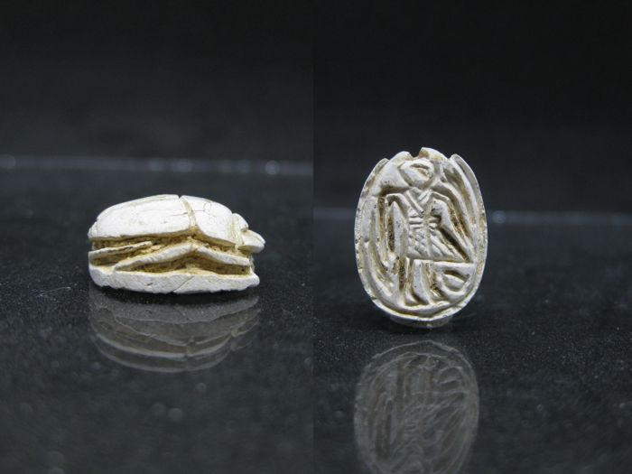 Ancient Egyptian Steatite Scarab from the SIP - ca. 1,4 cm