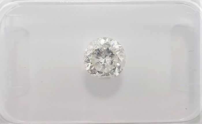 0.66ct Natural Round Brilliant Cut Diamond I SI3 3VG - No Reserve!