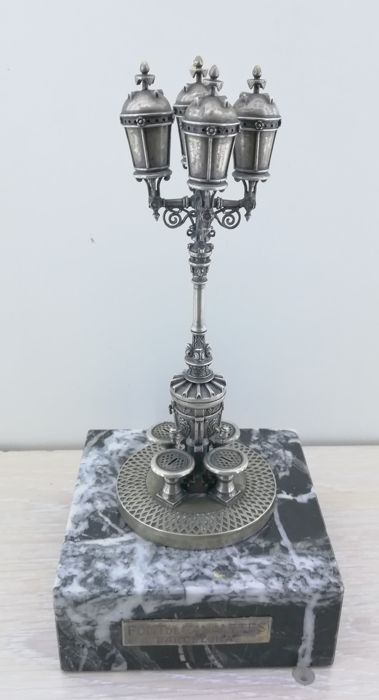 Fountain lamp in Spanish Silver of 915 mm - reproduction of the fountain of Canaletes in Barcelona