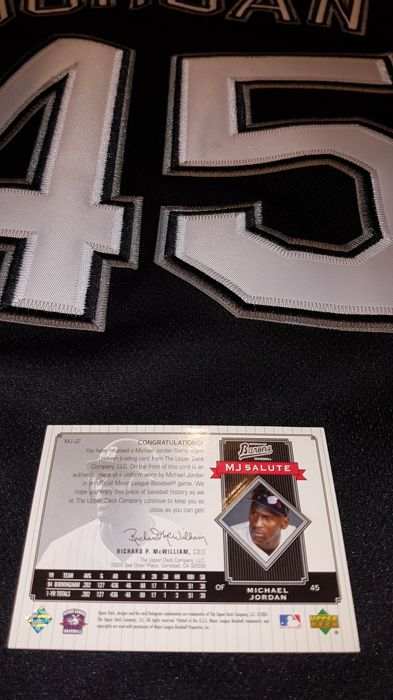 d3bf00771d0 Michael Jordan White Sox Jersey 1994 replica   official game worn  collectors card