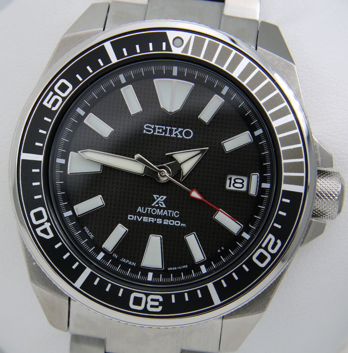 "Seiko - ""Samurai"" Automatico Black Made in Japan - New - Mænd - 2017"