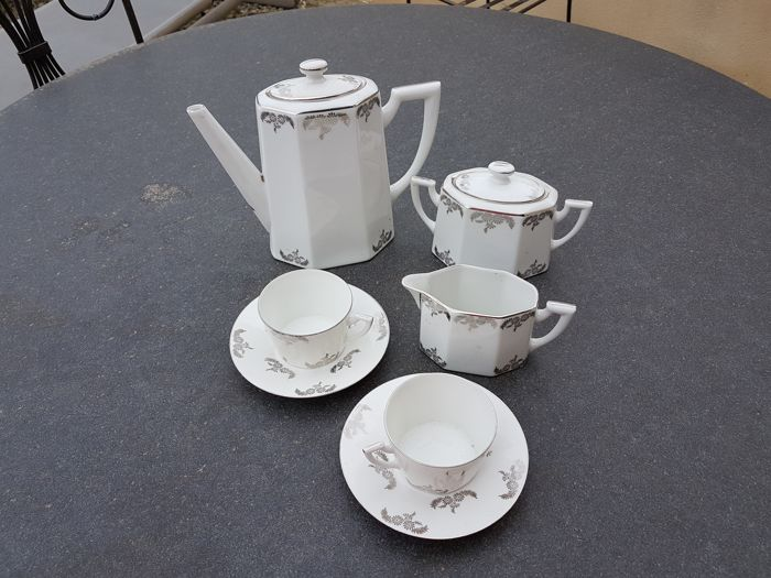 T. L.B. Limoges - silver coffee set for 10 people
