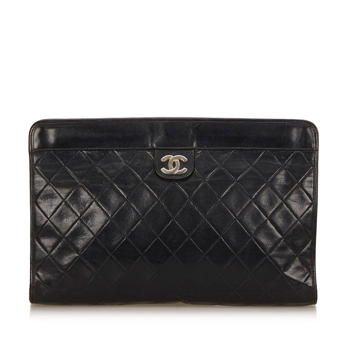 Chanel - Matelasse Leather Clutch Bag