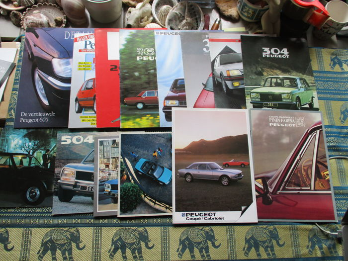 Brochures / Catalogi - Peugeot - 1972-1994 (14 items)