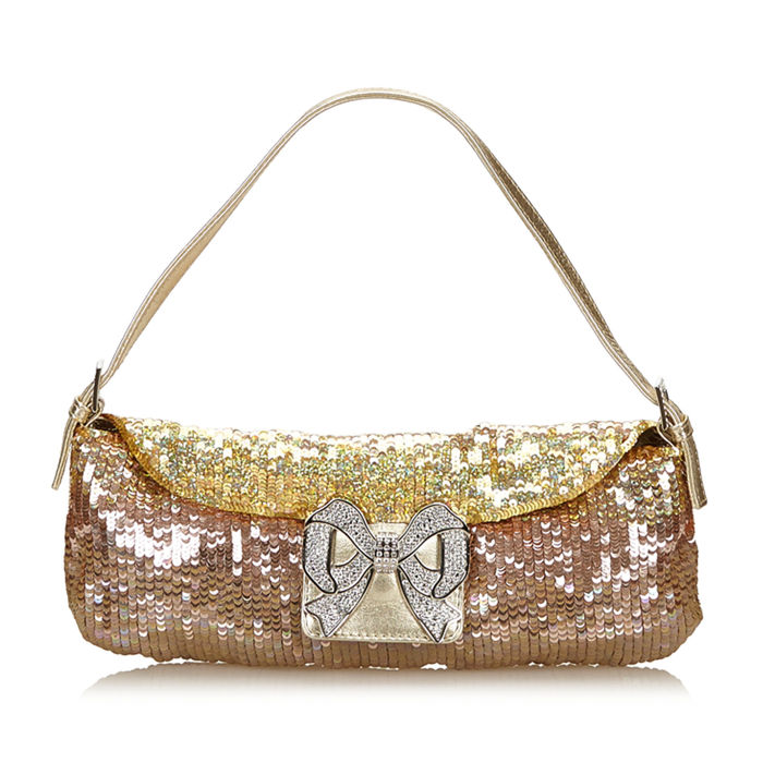 Valentino - Sequined Leather Handbag