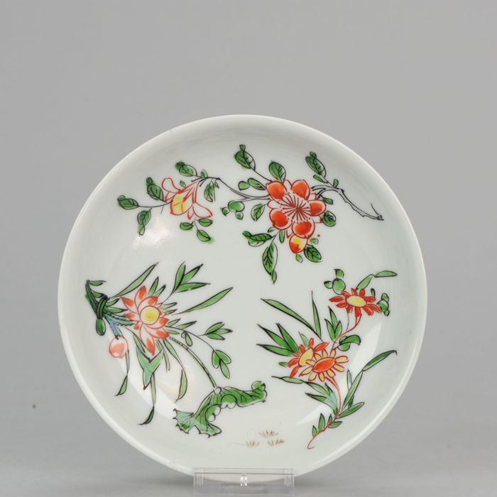 Ming Porcelain Famille Verte Plate - Wanli / Tianqi Transitional  -  China - 17th century.