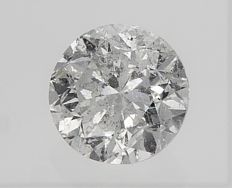 Round Brilliant Cut  - 1.17 carat - D color - SI1 clarity- Comes With AIG Certificate + Laser Inscription On Girdle