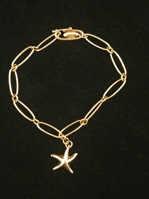 471a857cc Tiffany bracelet in 18 kt gold, Starfish collection - Designed by Elsa  Peretti - length