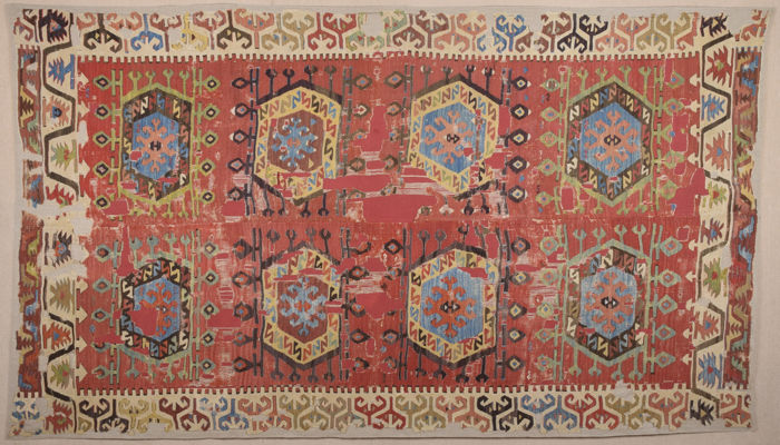 Early 19th Century Unusual Central Anatolian Probably Aksaray Küpeli Area Kilim
