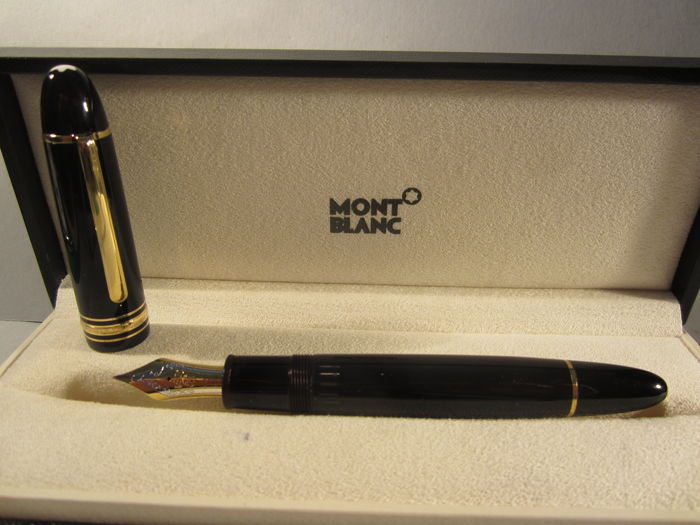 "MONTBLANC 149 fine fountain pen ""Extra size"" 18 kt gold nib. Original box. In excellent condition"