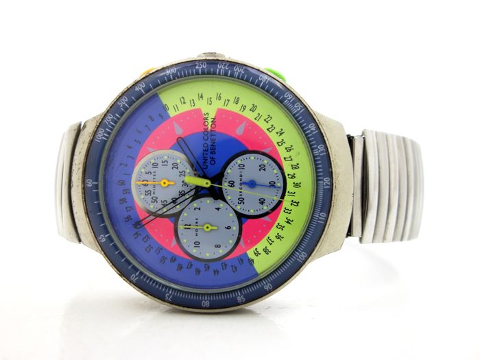 United colors of benetton by bulova cronograph hombre 1980 1989 catawiki for Benetton watches