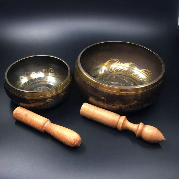 Two singing bowls - Nepal - 2nd half 20th century