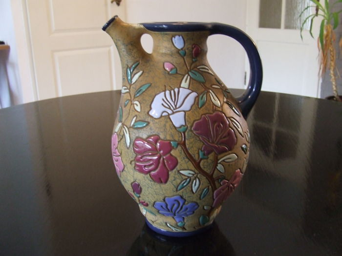 Amphora Works Riessner Enamel Flower Vase Pitcher Catawiki