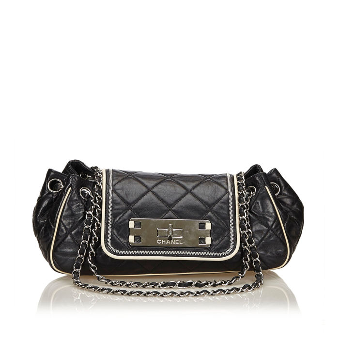 Chanel - Leather East West Chain Flap