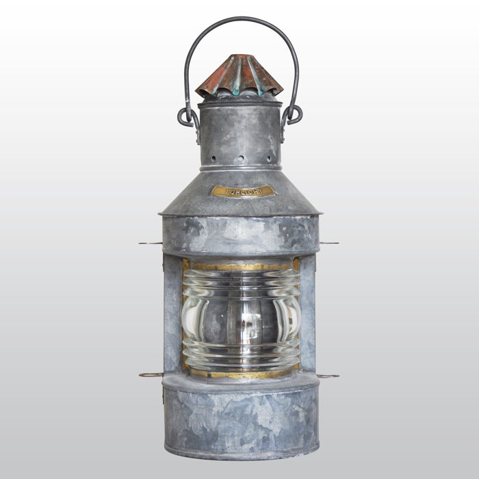 Galvanized boat lamp (stern light) 225 °
