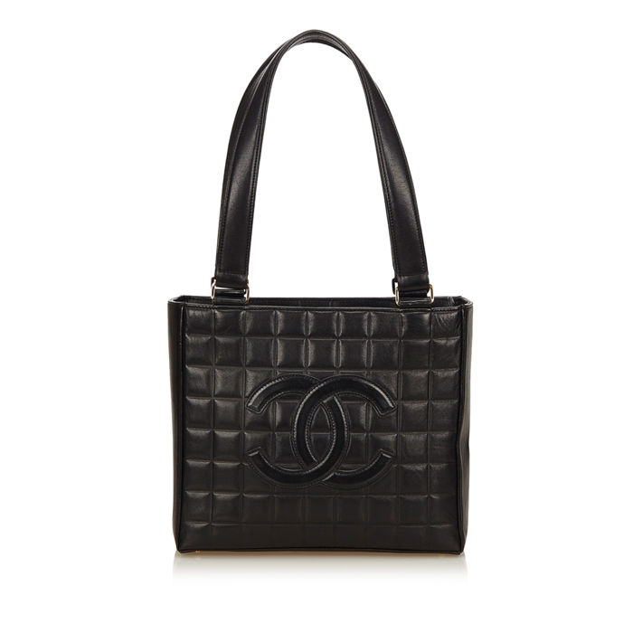 Chanel - Choco Bar Leather Shoulder Bag
