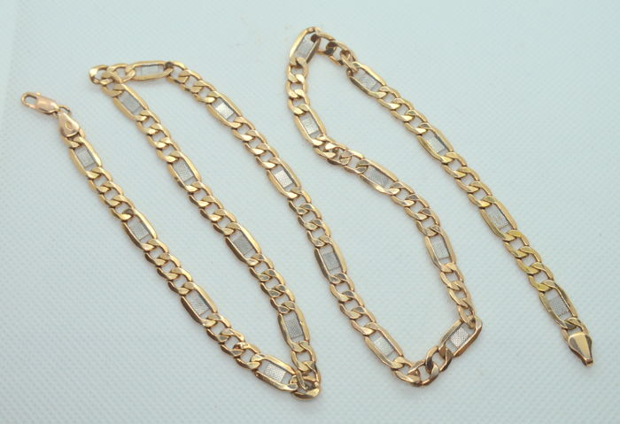 14K Gold chain necklace  - lenght 60 cm