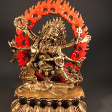 Bronze Mahakala - Tibet - 2nd half 20th century (21.5 cm)