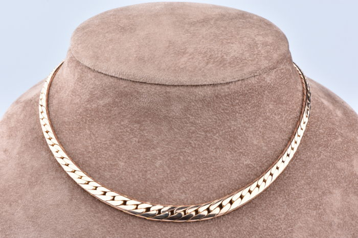 Necklace in 18 kt Rose Gold (750/1000) English Link