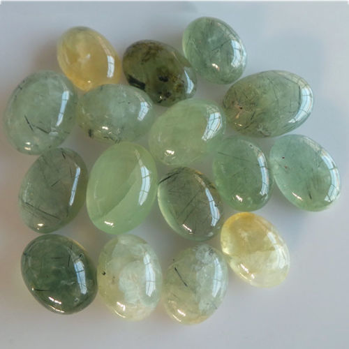 16 pieces Prehnite Cabochons 400.00 ct