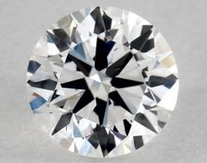 Round diamond certified and engraved by the IGI, 0.34 ct, colour D, purity SI1