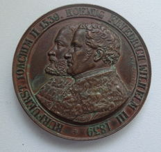 Brandenburg-Prussia, Friedrich Wilhelm III, 1797-1840 - bronze medal 1839 of Chrstoph Carl P for 300 years of the Reformation in Brandenburg and in Berlin, Martin Luther.