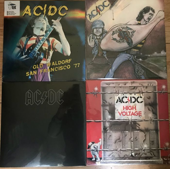 Great Lot Of AC/DC Records All In Mint Condition
