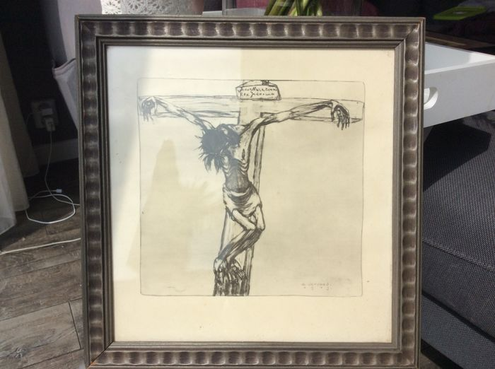 A. Servaes 1919 - Albert Servaes 1919 - image - Jesus Christ dies on the cross.
