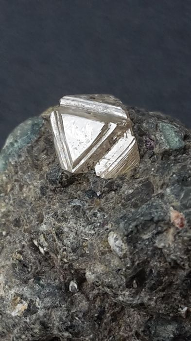Rare Diamond on matrix - 3.2 x 2.8 x 1.8 cm - 17.2 gm
