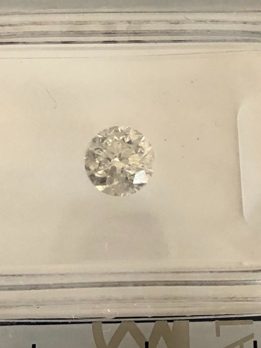 1 pcs Diamante - 0.51 ct - Brillante - G - I1