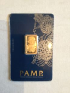 5g NEW Pamp Suisse Minted Gold Bar
