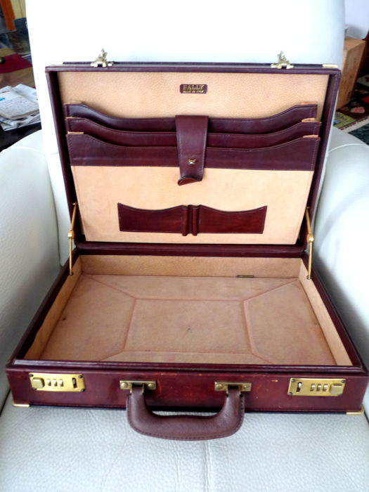 ef19c9fde Briefcase - For men - Branded BALLY, Italy, brass reinforcements ...