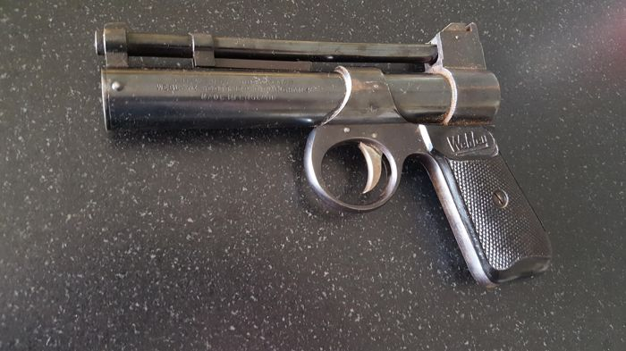 Superbe Pistolet WEBLEY & SCOTT Junior .177 BIRMINGHAM 4 ( Avant 1958 ) Air Pistol