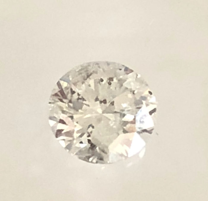 1 pcs Diamant - 0.70 ct - Brillant - G - SI2
