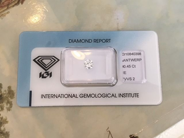 0.45 ct Brilliant cut diamond E/VVS2