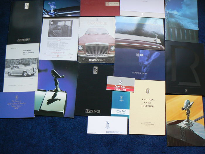 Brochures Rolls-Royce and Bentley various models