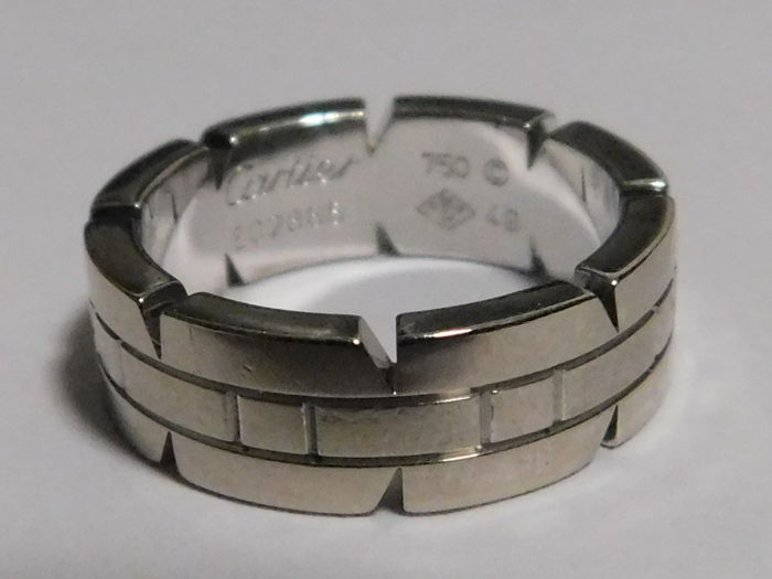 Cartier - Tank cocktail ring in 750/000 white gold weighing 8.9 g, finger circumference 49.
