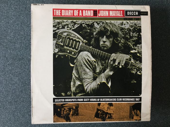 A lot of 4 LP's by blues legend John Mayall. Famous composer, guitarist, pianist from the blues scene in the Sixties.