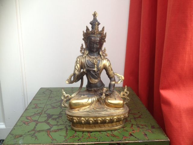 Bronze Vajrasattva - Tibet - Second half of the 20th century (30.5 cm)