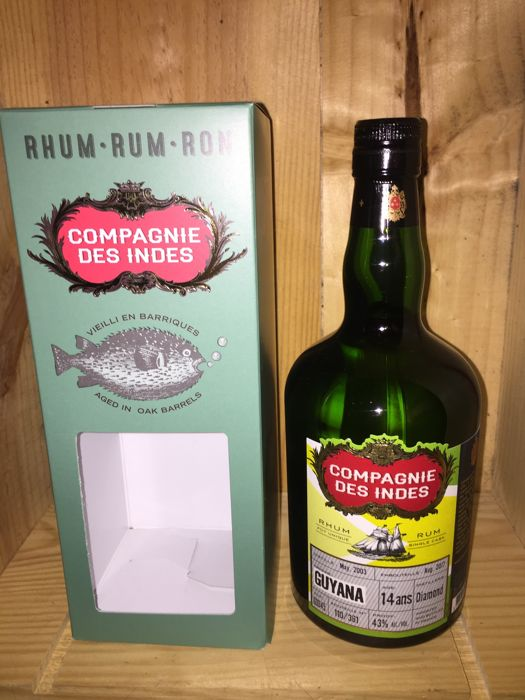 1 Bottle Diamond Guyana rum 14 years - La Compagnie des Indes 70cl & 43%