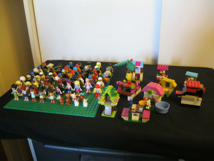 Lego figures and Lego Friends figures 65 pieces and more