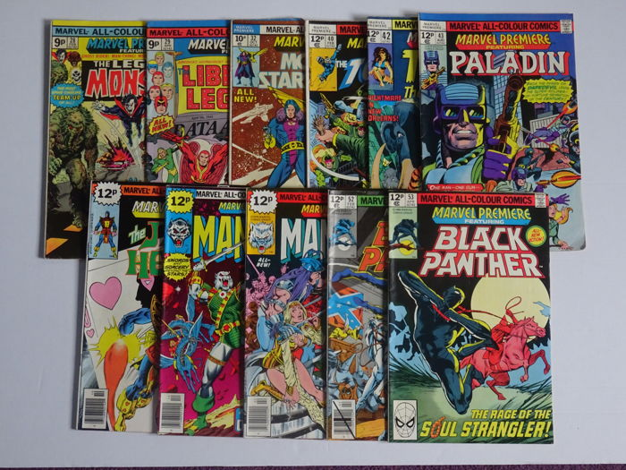 Marvel Premiere #28 #29 #32 #40 #42 #43 #44 #45 #46 #52 #53. beautfiful wee lot of comics we would grade from 5's to 7.5's