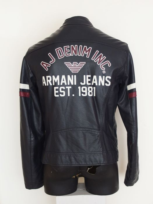 new style 6f57f 80c0c Armani Jeans - Faux leather - Giacca di pelle - Catawiki