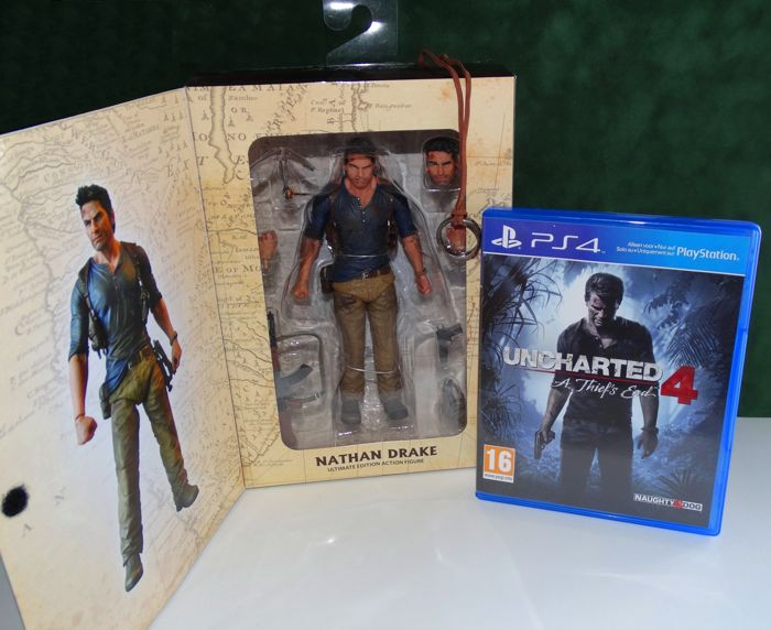 Uncharted 4 Ps4 Game Neca Action Figure Ultimate Nathan