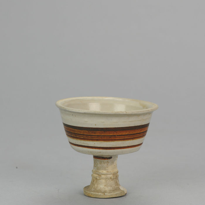 Yuan or Ming Dynasty Stem Cup c.1300 – 1450, Cizhou Type. - 8 cm