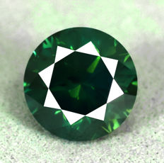 Blue Green Diamond (treated) - 2.06 ct, NO RESERVE PRICE