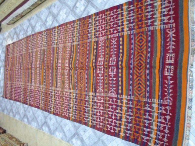 Irani Persian Kilim Hand Made 366 x 120 cm