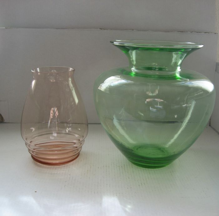 Ad Copier 2x Ribbed Vase H Collection Green Ball Vase Catawiki
