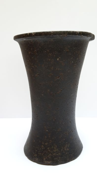 Egyptian Ointment or oil vase, diorite, 18.8 cm