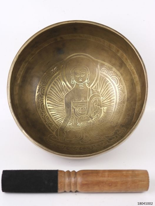 Hand-hammered singing bowl - Nepal - late 20th century